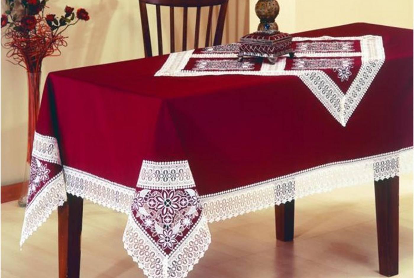 Как сделать скатерть на прямоугольный стол